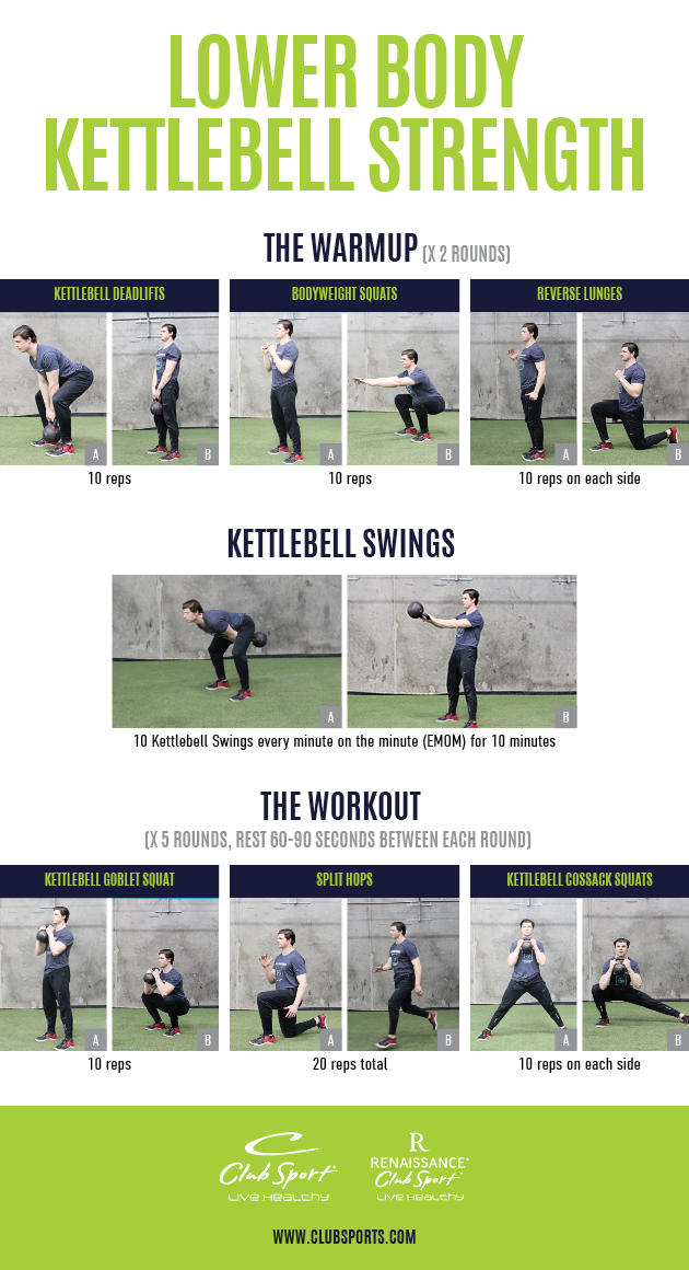 Lower Body Kettlebell Strength - pinnable