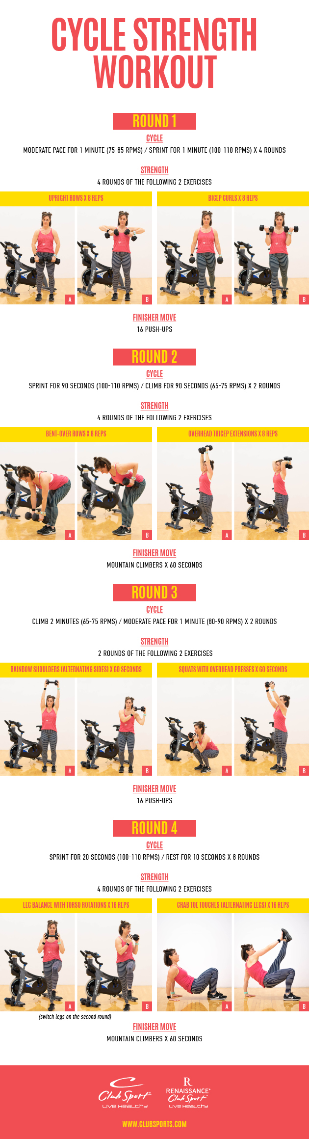Cycle Strength Workout