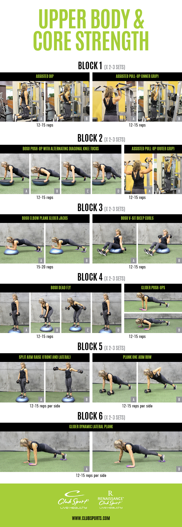Upper Body and Core Strength - pinnable